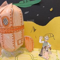 Wallace and Gromit on the moon DIY