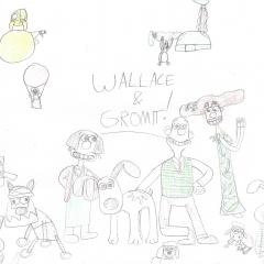 Wallace and Gromit and Friends Drawing