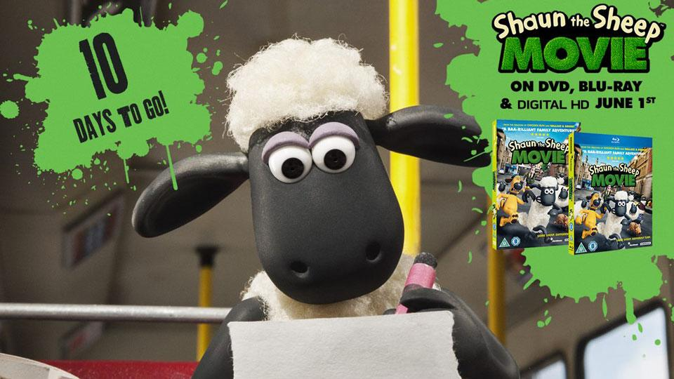Shaun the Sheep Movie Relased on DVD & Blu-ray on 1st June in UK!