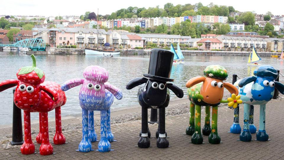 First Bristol Shaun in the City Sculptures Revealed!