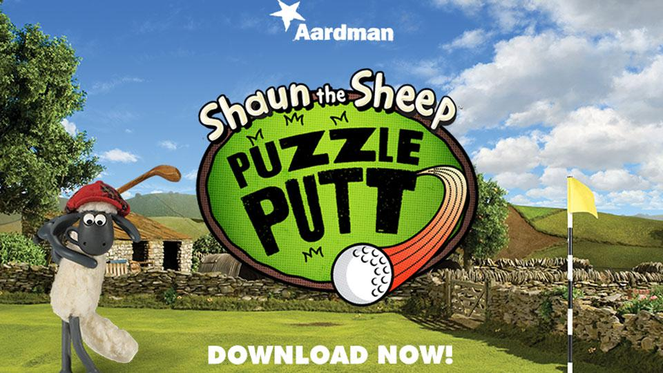 PLAY SHAUN'S NEW PUZZLE PUTT GOLF GAME!