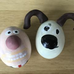 Hard boiled Wallace and Gromit!