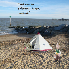 Wallace and Gromit at Felixstowe Beach