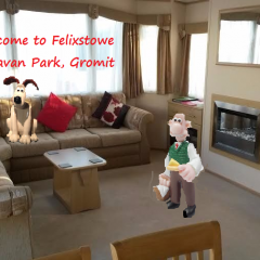 Wallace and Gromit at Felixstowe Caravan Park