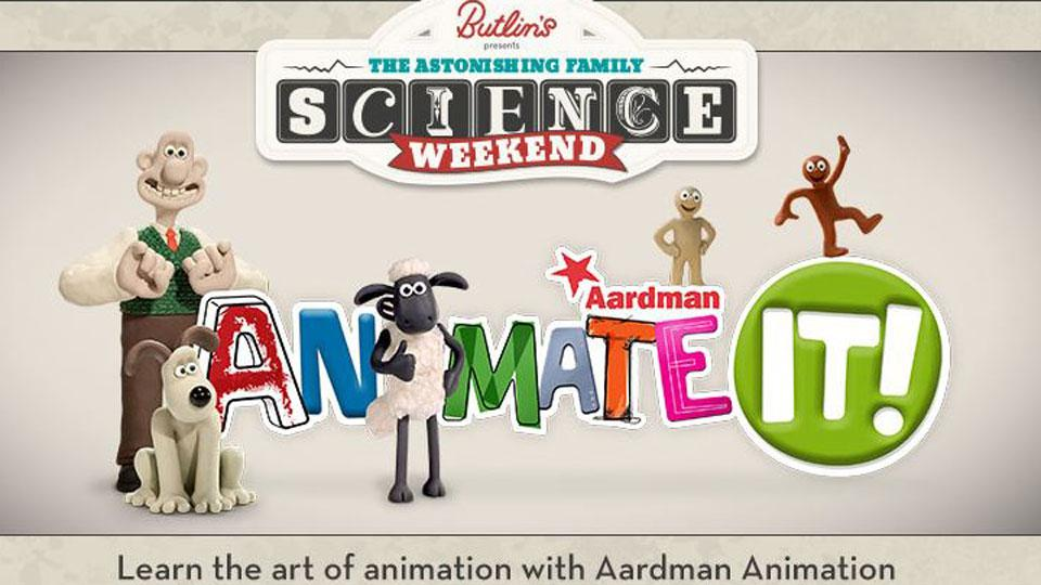 Join Aardman at Butlins for a Fun Packed Science Weekend