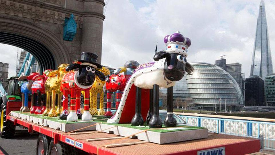 The Flock Invades London For Shaun in the City Trail Launch!